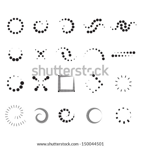 Design Elements Set - Isolated On White Background - Vector Illustration, Graphic Design Editable For Your Design. Design Logo - stock vector