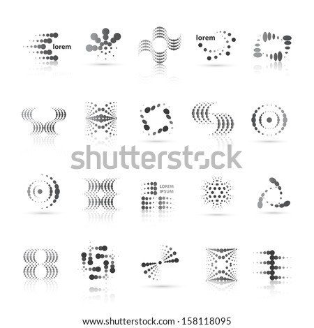 Design Elements Set - Isolated On White Background - Vector Illustration, Graphic Design Editable For Your Design - stock vector