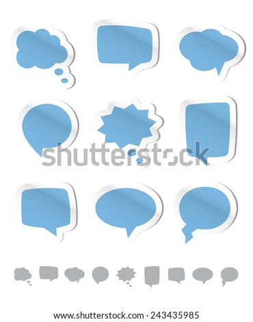 Design elements - Speech bubbles - Illustration - stock vector
