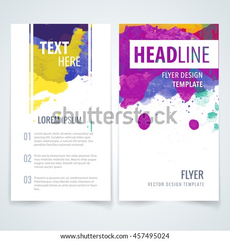 Design Elements Template Brochure Leaflet Poster Stock Vector - Template for brochure