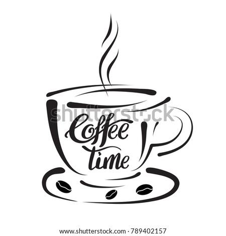 design elements template coffee shops brew stock vector 789402157 rh shutterstock com vector line art free vector line art heart