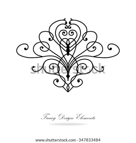 Victorian Design Elements design elements vector black white victorian stock vector