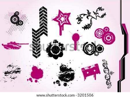 Design elements Vol.1 - stock vector