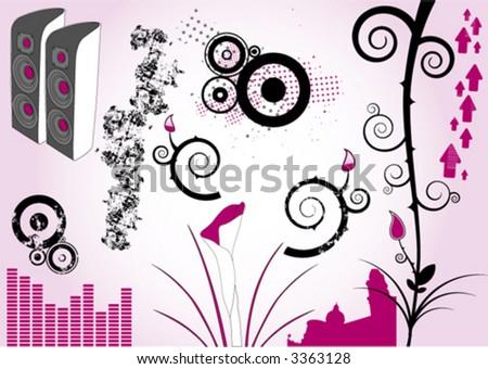 Design Elements Vol. 6 - stock vector