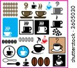 DESIGN ELEMENTS VOL COFFEE BREAK VECTOR 01 - stock vector