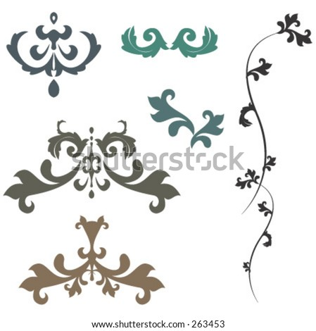 Design elements, wallpaper pattern - stock vector