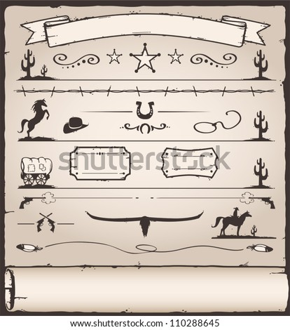 Design Elements Wild West - stock vector