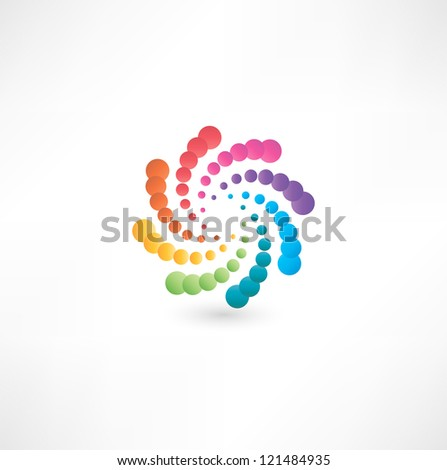 Design elements with spiral motion. - stock vector