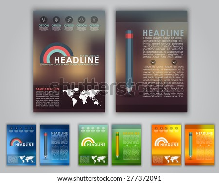 Modern Vector Technology Brochure Cover Flyer Stock Vector