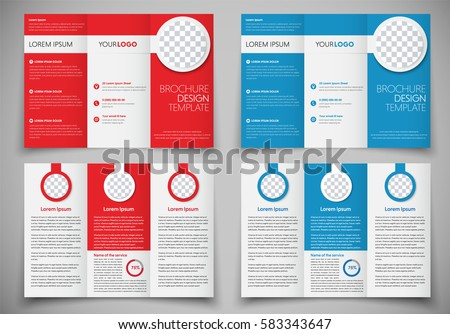 Design Folding Brochures Print Template Flyer Stock Vector 583343647