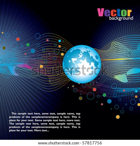 "Design for creation cover or web page template ""World of the communication"" - stock vector"