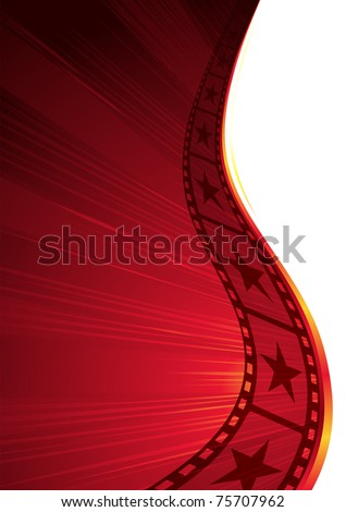 Design for hot premiere or other cinema event - stock vector