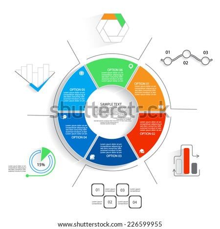 Design for presentation, diagram, infographic elements - stock vector