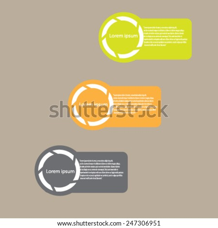 Design for presentation, vector illustration