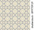 Design for seamless tiles with geometric lines and squares in grey, yellow, oker, brown - stock photo