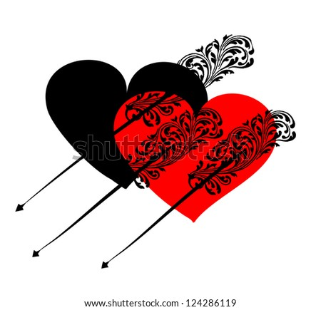 Design for Valentine's Day. - stock vector