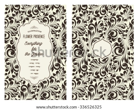 Design for you personal cover. Spring flower swirls. Floral theme for book cover. Flower texture illustration in style of engraving. Vector illustration.  - stock vector