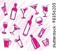 design glasses & bottles vector - stock vector
