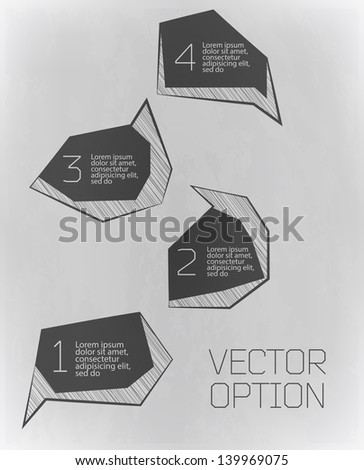 Design grey elements  for options  - stock vector