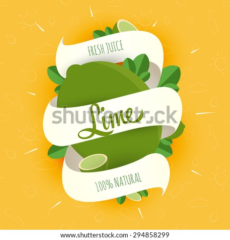 Design Ideas for packaging, labels, covers, badges, or other items for advertising, business or corporate identity. Lime. - stock vector