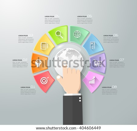Design Internet of things concept  infographic. - stock vector