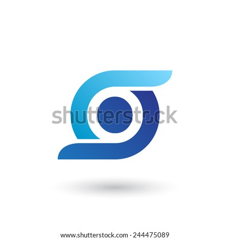 Design logo icon template with letter O. Vector illustration. - stock vector