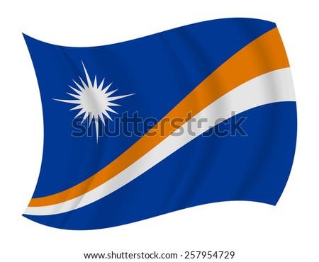 design Marshall Islands flag waving vector - stock vector