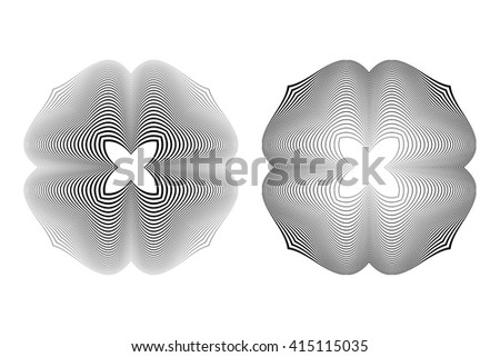 Design monochrome illusion background. Abstract stripe backdrop. Vector-art illustration. No gradient - stock vector