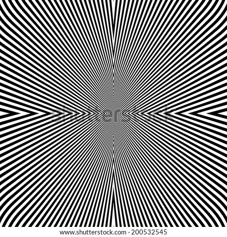 Design monochrome lines illusion background. Abstract strip backdrop. Vector-art illustration
