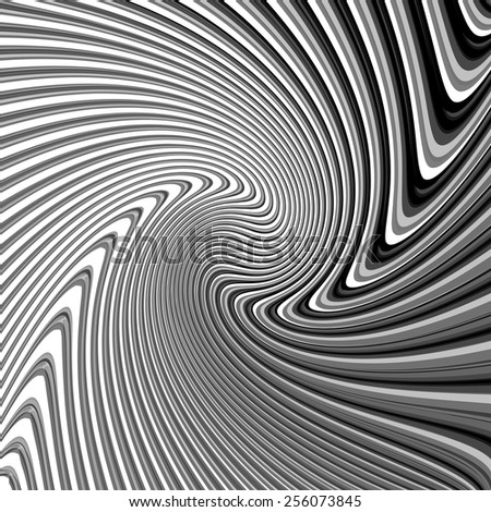 Design monochrome parallel waving lines background. Abstract textured twisting backdrop. Vector-art illustration. EPS10 - stock vector