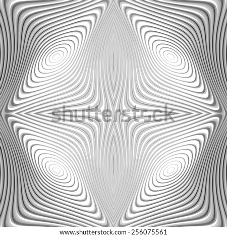 Design monochrome whirl circular motion background. Abstract striped distortion twisted backdrop. Vector-art illustration. EPS10 - stock vector