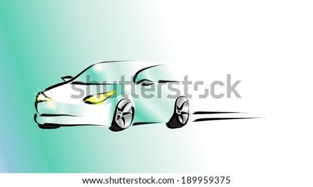 Design of a sports convertible car. Vector - stock vector