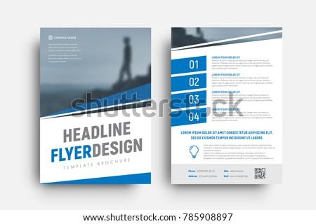 Design Vector Flyer Diagonal Lines Place Stock Vector 785908897