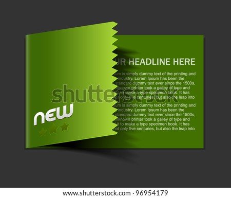 Design of advertisement brochure design. - stock vector