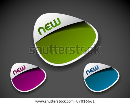 Design of advertisement labels stamps stickers use. - stock vector