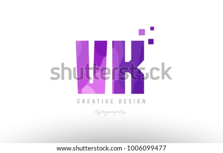 Design alphabet letter logo vk v stock vector 1006099477 shutterstock design of alphabet letter logo vk v k with pink color and squares suitable as an icon toneelgroepblik Gallery