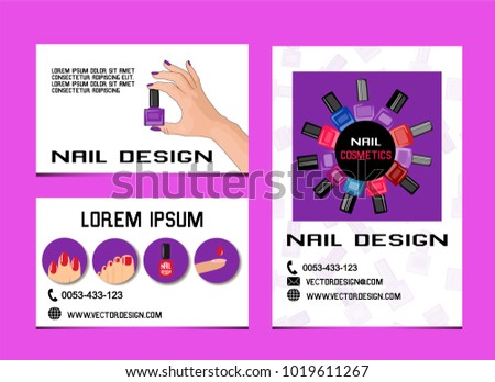 Design business cards covers advertising beauty stock vector hd design of business cards covers advertising for beauty salon manicure and pedicure colourmoves