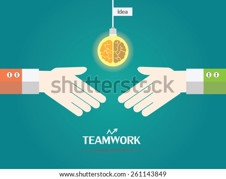 design of business teamwork concept - stock vector