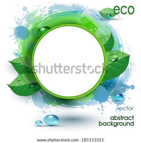 design of  fresh green leaves - stock vector