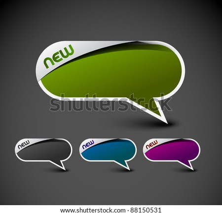 Design of messenger window. transparent shadow easy replace background and edit colors. - stock vector