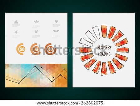 Design of progress bar, loading creativity. Vector web and mobile interface template.  Abstract vector brochure, Web sites, page, leaflet,  logo and text separately - stock vector