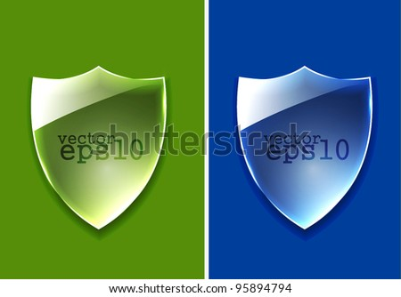 Design of shield glossy icon use. - stock vector