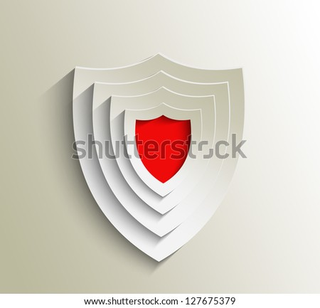 Design of shield labels - stock vector