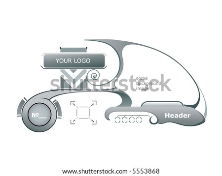 Design of the user interface and - or set of elements for hi-tech design.
