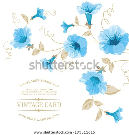 Design of vintage floral card. Vector illustration. - stock vector