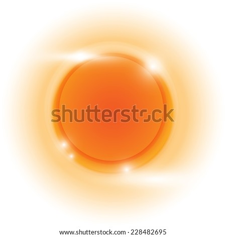 Design orange glow circle vector abstract background, stock vetor - stock vector