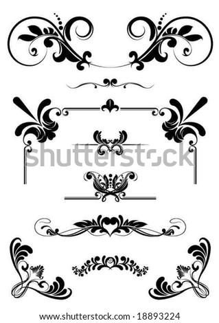 design ornaments - stock vector
