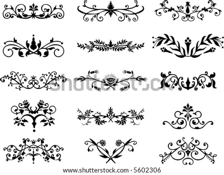 design ornaments - floral frames,borders - vector illustration - fully scalable - stock vector