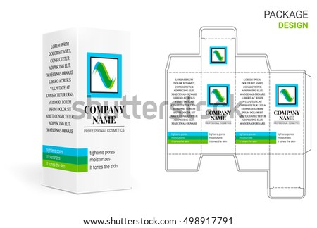 Design packaging box stock vector royalty free 498917791 by box design business card reheart Image collections