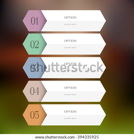 Design paper template. Vector website layout, banners for infographics - stock vector